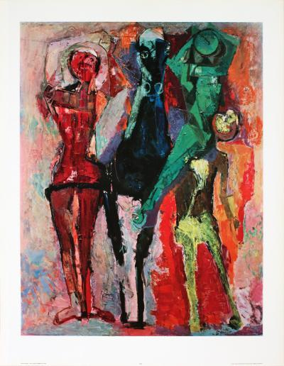 Horse with Jugglers-Marino Marini-Collectable Print