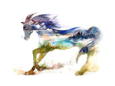 Horse-okalinichenko-Premium Giclee Print