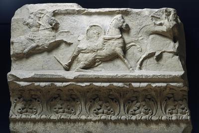 Horseback Riding from Temple of Apollo Sosianus, Rome, Italy--Giclee Print