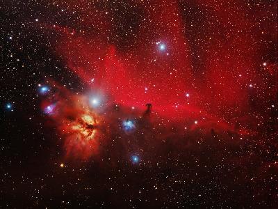 Horsehead And Flame Nebulae-John Sanford-Premium Photographic Print