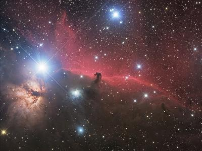 Horsehead Nebula And Flame Nebula in Orion-Stocktrek Images-Photographic Print