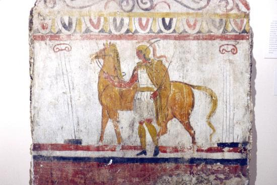 Horseman, Lucan tomb painting, Paestum, c4th century BC-Unknown-Giclee Print