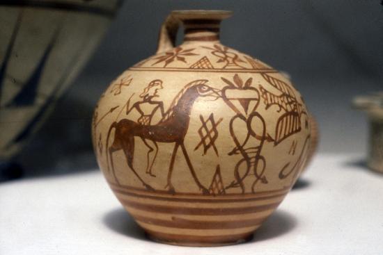 Horseman on Greek Scent-Bottle (Araballos) Proto-Corinthian, c7th century BC-Unknown-Giclee Print