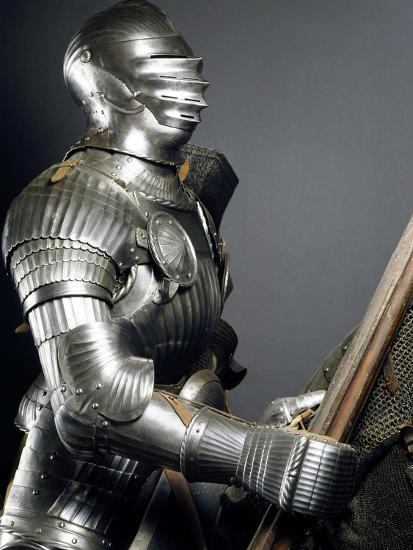 Horseman's Armor in Steel, Made in Southern Germany, 1510-1515, Germany, 16th Century--Giclee Print