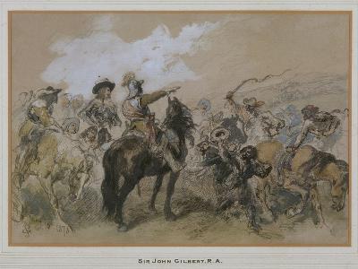 Horsemen at the Time of Charles I, 1876-John Gilbert-Giclee Print
