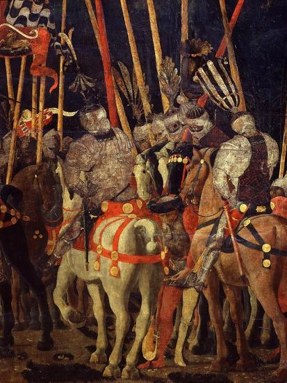 Horsemen, from Battle of San Romano (Depicting Florentine Victory over Sienese in 1432), C. 1455-Paolo Uccello-Giclee Print