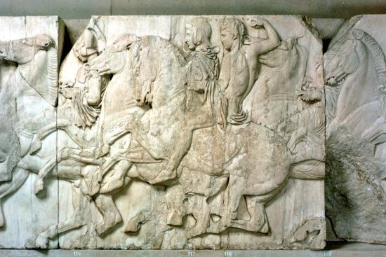 Horsemen from the Parthenon frieze, 438-432 BC. Artist: Unknown-Unknown-Giclee Print