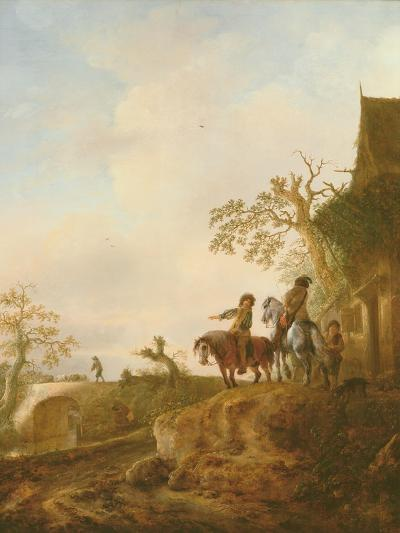 Horsemen Halting at an Inn, C.1640s-Isack van Ostade-Giclee Print
