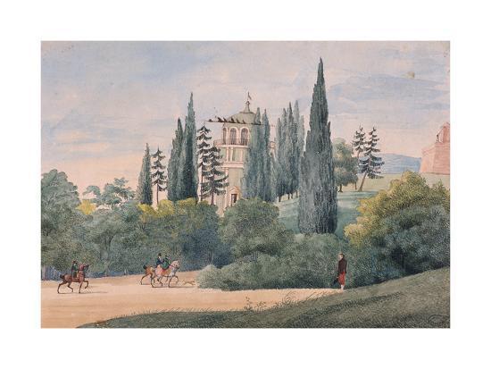 Horsemen in an Italian Landscape-Elisa Bonaparte-Giclee Print