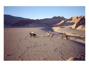 Horsemen in the Valle de la Muerte, Atacama Desert, Chile