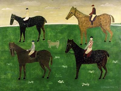 Horses and Jockeys-George Fredericks-Giclee Print