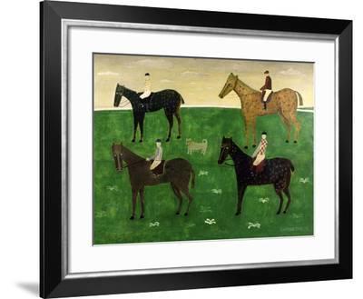 Horses and Jockeys-George Fredericks-Framed Giclee Print