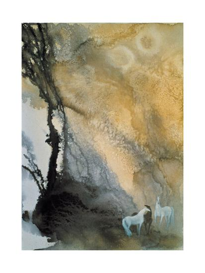 Horses at Leisure-Yunlan He-Giclee Print
