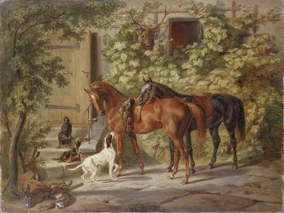 Horses at the Porch, 1843-Albrecht Adam-Giclee Print
