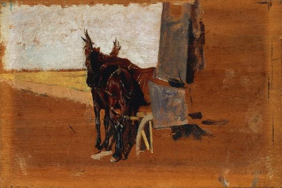 Horses, by Giuseppe De Nittis--Giclee Print