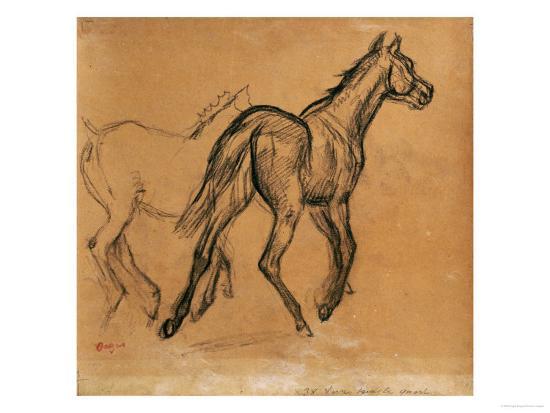 Horses, circa 1882-Edgar Degas-Giclee Print