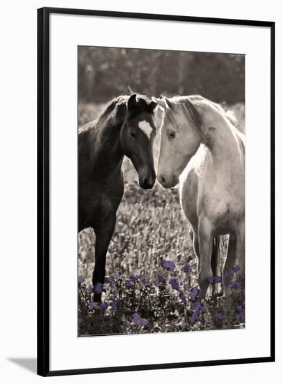 Horses I-Sally Linden-Framed Art Print