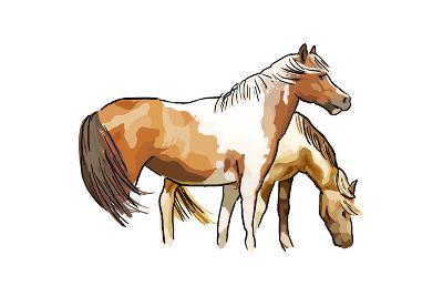 Horses - Icon-Lantern Press-Art Print