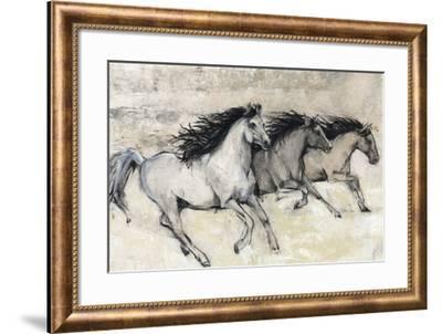 Horses in Motion II--Framed Giclee Print