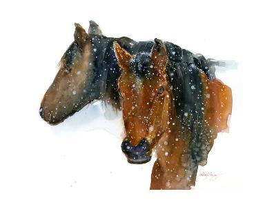 Horses in Winter, 2015-John Keeling-Giclee Print