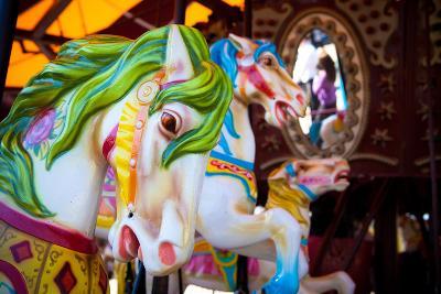 Horses on a Carousel-EvanTravels-Photographic Print