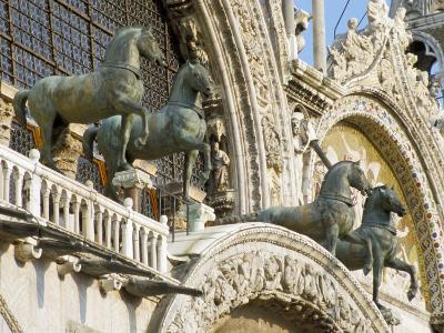 Horses on St. Marks, Venice, Veneto, Italy-James Emmerson-Photographic Print