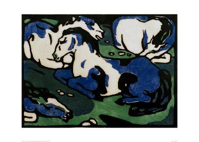 Horses Resting-Franz Marc-Giclee Print