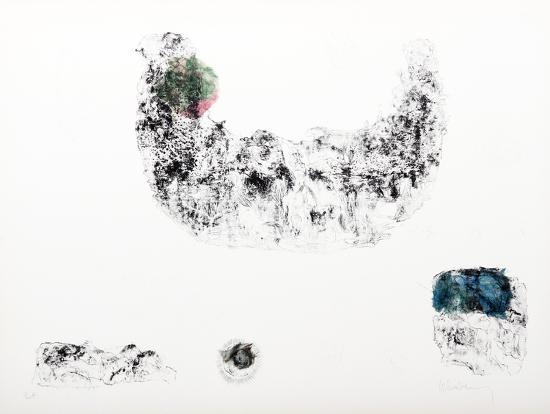 Horses - Variation 11 (Green, Pink and Blue)-Lebadang-Collectable Print