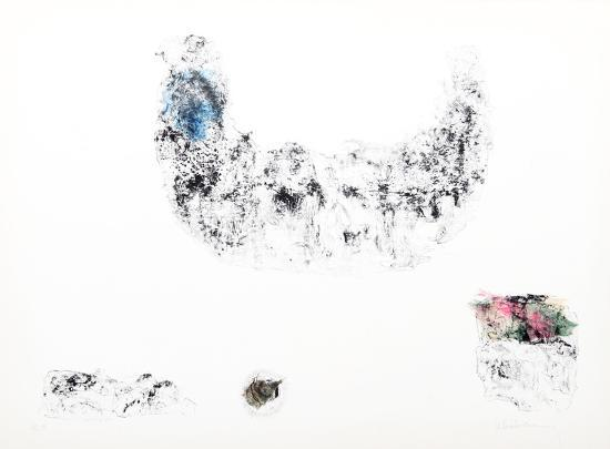 Horses - Variation 12 (Blue, Pink and Green)-Lebadang-Collectable Print