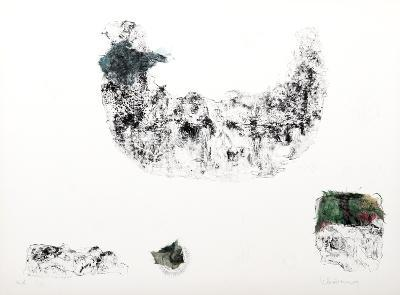 Horses - Variation 2 (Blue and Green)-Lebadang-Collectable Print