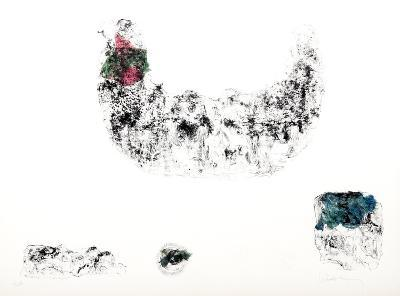 Horses - Variation 3 (Pink, Green, and Blue)-Lebadang-Collectable Print
