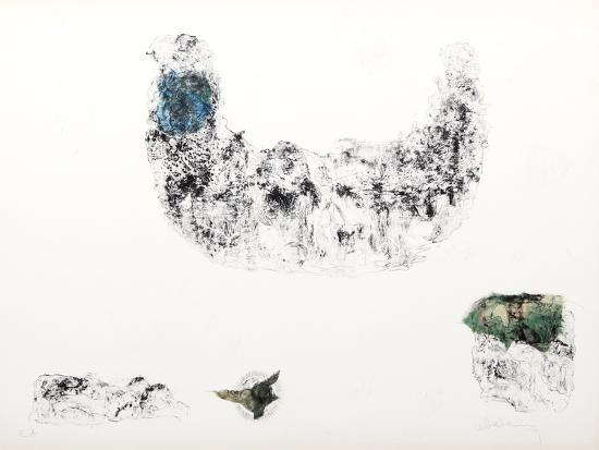 Horses - Variation 9 (Blue and Green)-Lebadang-Collectable Print