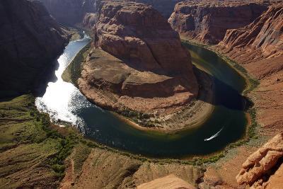 Horseshoe Bend, 1000 Ft. Drop to Colorado River-David Wall-Photographic Print