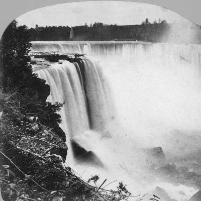 Horseshoe Falls as Seen from Goat Island, Niagara Falls, Early 20th Century-George Barker-Photographic Print