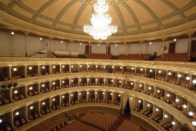 Horseshoe Shaped Auditorium in Coccia Theatre (Opened in 1888)--Photographic Print