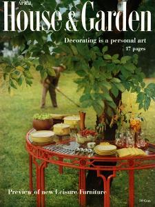 House & Garden Cover - April 1957 by Horst P. Horst