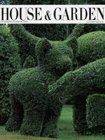 House & Garden Cover - December 1983 by Horst P. Horst