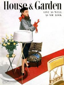 House & Garden Cover - October 1950 by Horst P. Horst