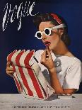 Vogue Cover - July 1939 - Lipstick, Quick!-Horst P. Horst-Stretched Canvas