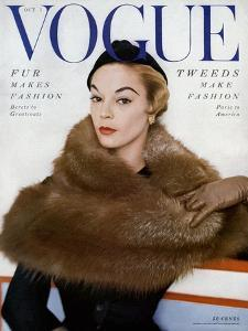 Vogue Cover - October 1953 by Horst P. Horst