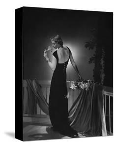 Vogue - June 1935 - Woman Admiring a Lily by Horst P. Horst