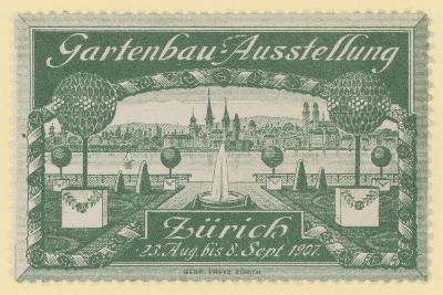 Horticultural Exhibition, Zurich, 1907--Giclee Print