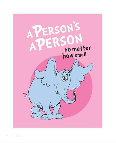 Horton Hears a Who (pink circle)-Theodor (Dr. Seuss) Geisel-Art Print