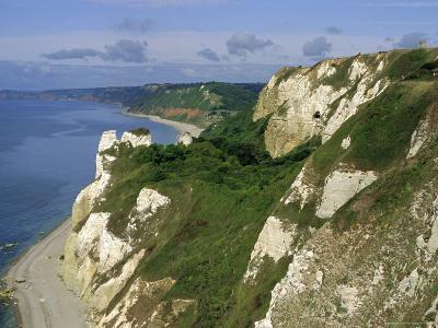 Hoskon Landslip, Beer Head, from Coastal Path, East Devon, England, UK-Michael Black-Photographic Print