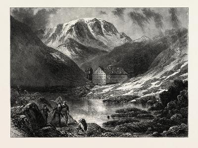 Hospice of the Great, St. Bernard, Switzerland, 19th Century--Giclee Print
