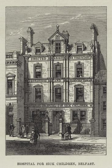 Hospital for Sick Children, Belfast--Giclee Print