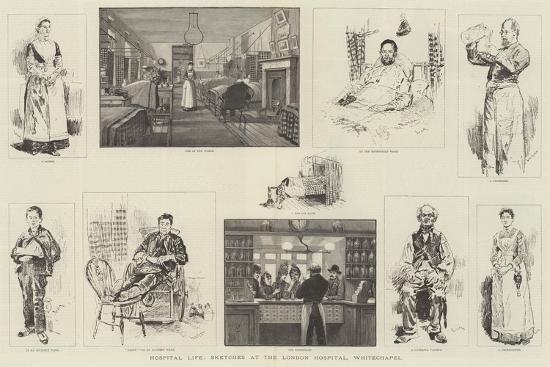 Hospital Life, Sketches at the London Hospital, Whitechapel-William Douglas Almond-Giclee Print