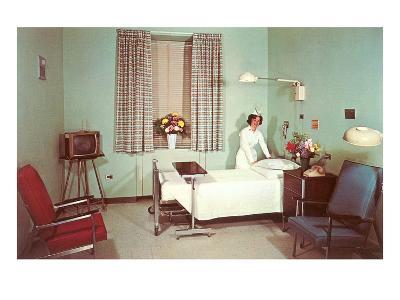 Hospital Room of the Fifties--Art Print