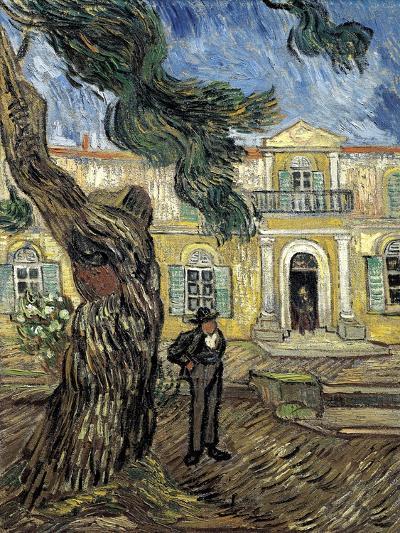Hospital Saint Paul at Saint-Rémy-De-Provence-Vincent van Gogh-Art Print