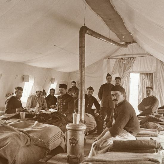 Hospital, Suippes, Somme, northern France, c1914-c1918-Unknown-Photographic Print